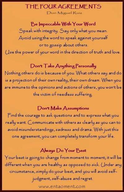 Book The Four Agreements Cosmic Pineapple