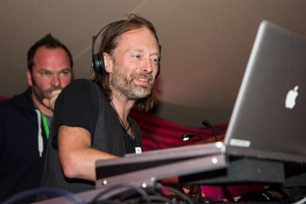 Thom Yorke DJd at the London Greenpeace march ahead of UN Climate Change Conference.
