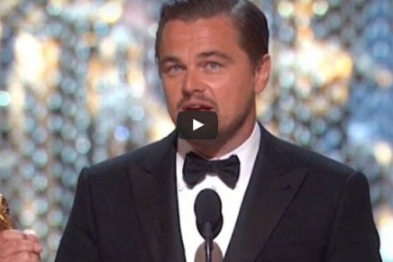 Leonardo DiCaprio urges need for climate change action with Oscars win