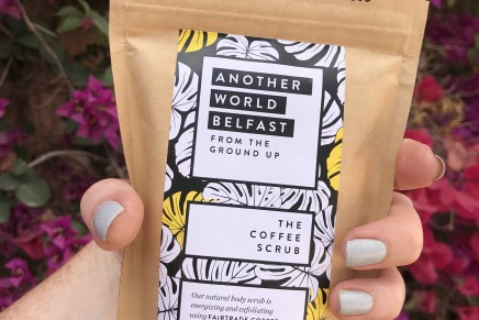 Ethically sourced coffee scrub from Another World Belfast