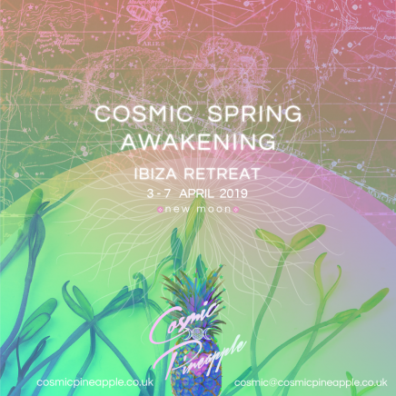 Cosmic Pineapple Retreat – April 3 – 7 – Spring New Moon – Cosmic New Beginnings
